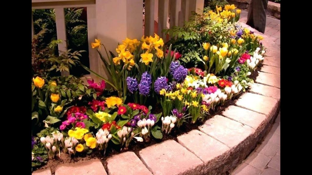 Cool  small flower bed ideas for front of house