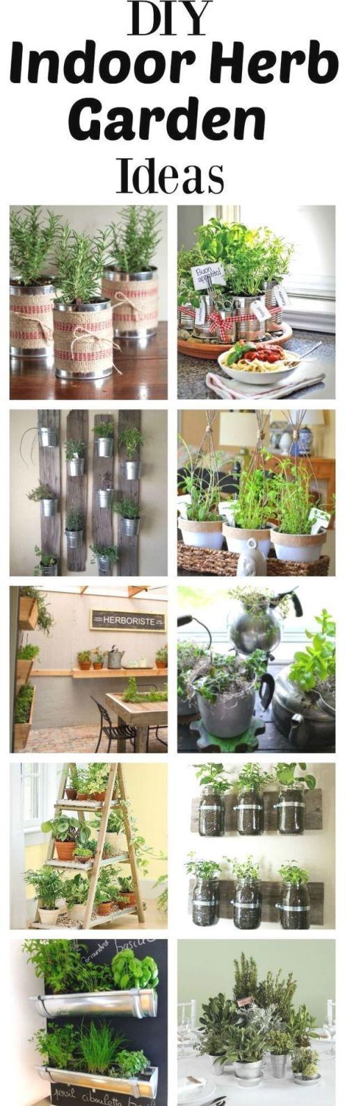 Beautiful diy indoor herb garden ideas