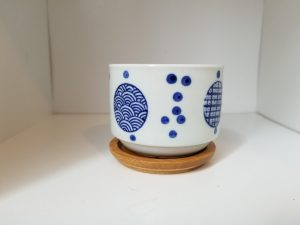 """3.25"""" Hand-painted Japanese Decorative Pot for Succulents & Indoor Plants"""