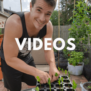 Link to gardening videos and vlog