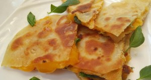 Crispy Toasted Cheese and Sweet Basil Tortilla