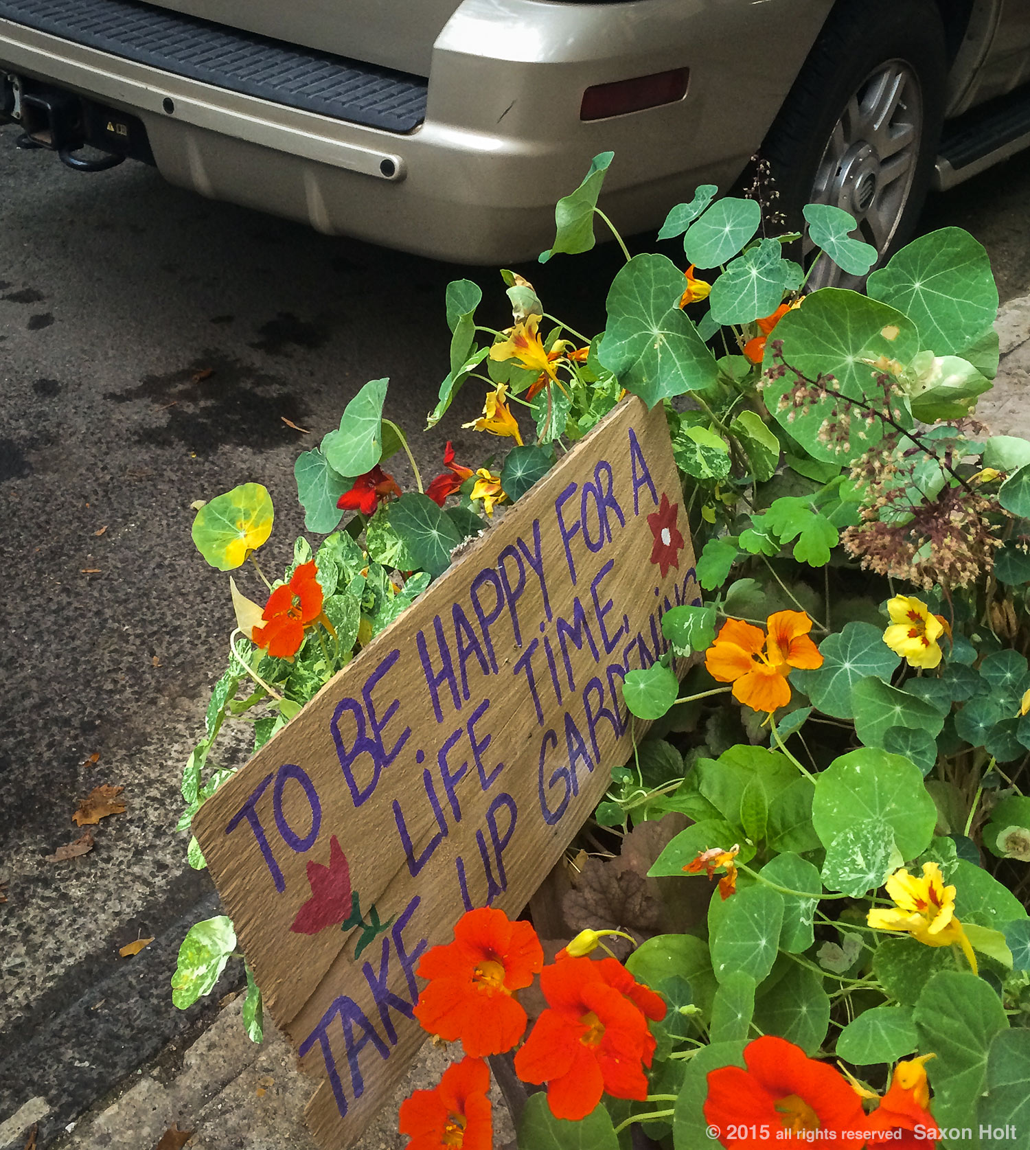 Gardener's street sign,take up gardening, Brooklyn