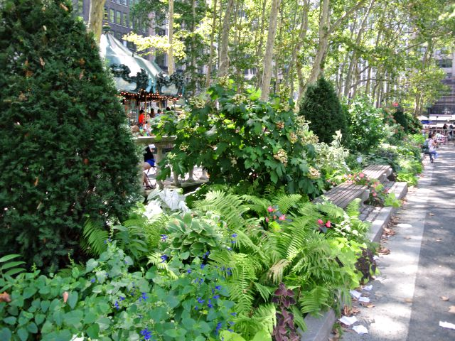 Plantings at Bryant Park