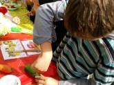 Making veggie creations The Great Pumpkin Carnival