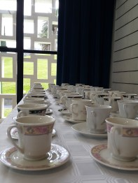 and the cups were ready and waiting