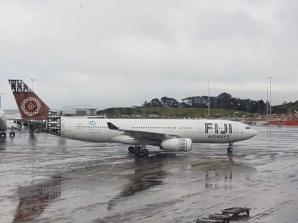 Rain soaked airport
