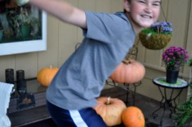 Photo Bombing Pumpkins When M was 12