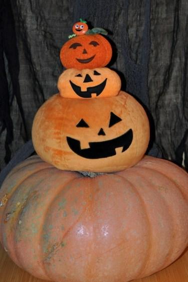 A Stack 'O Pumpkins (M's treasures)