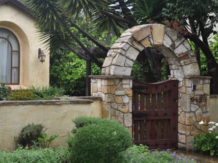 Charming garden entrance