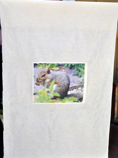 Photo printed on inkjet fabric sheet