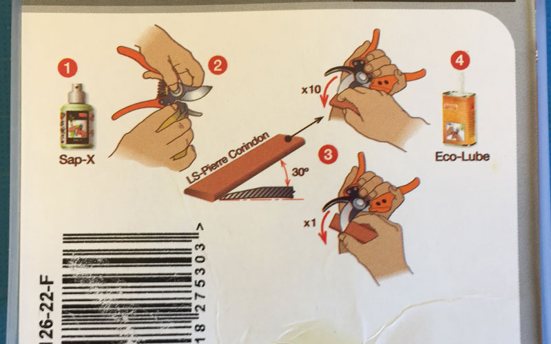 BAHCO P126-22-F bypass pruner sharpening instructions