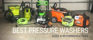 line-up and comparison of electric and cordless pressure washers