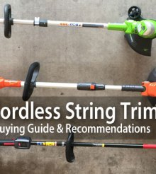 Best Cordless Battery Powered String Trimmers: Reviews & Buying Guide 2017