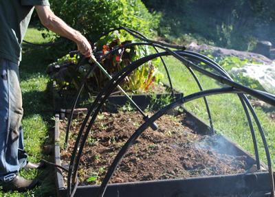 Flaming garden beds