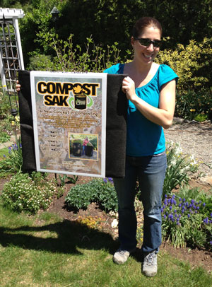 Compost Sak before unpacking