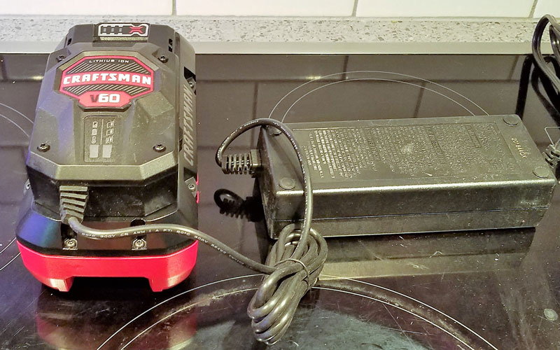 Craftsman 60V Hedge Trimmer battery charger