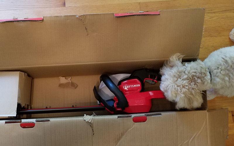 Craftsman 60V Hedge Trimmer packaging