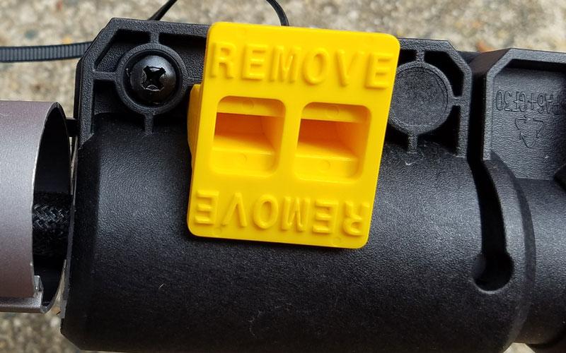 Craftsman 60V String Trimmer remove tab