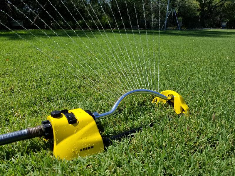 Dramm ColorStorm Oscillating Sprinkler in Use