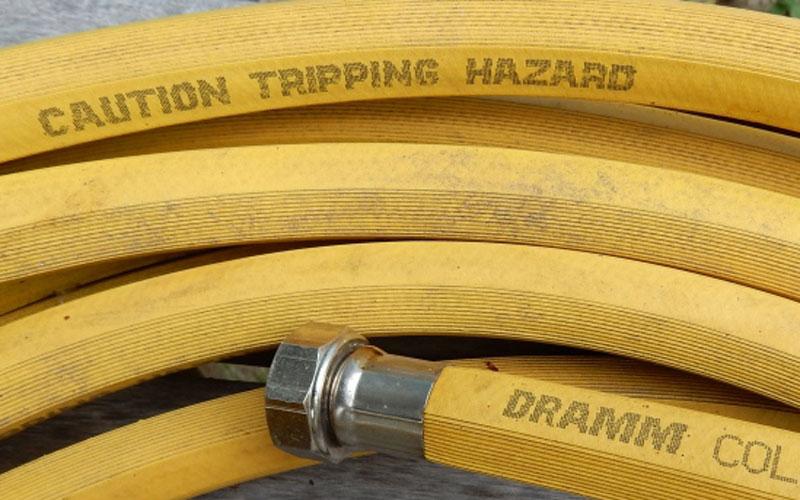 Dramm ColorStorm Hose With Caution Bar. U201c