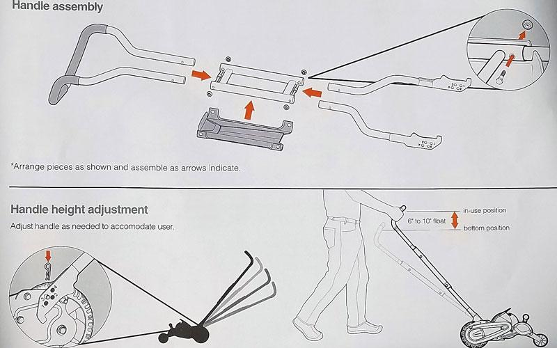 Fiskars Reel Mower assembling guide manual
