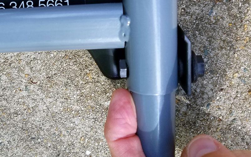 Fiskars Reel Mower 7 The handle parts