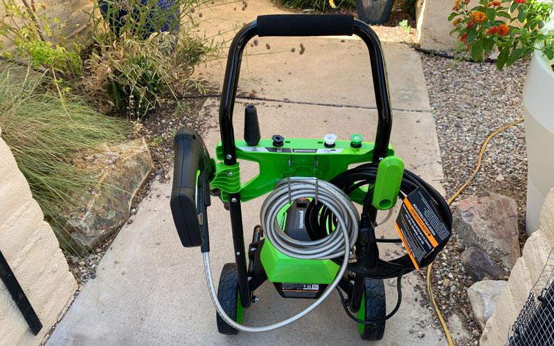 Greenworks-1800-PSI-Presssure-Washer-back-side-assembled