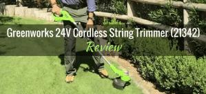 Greenworks 24V Cordless String Trimmer 21342 Featured