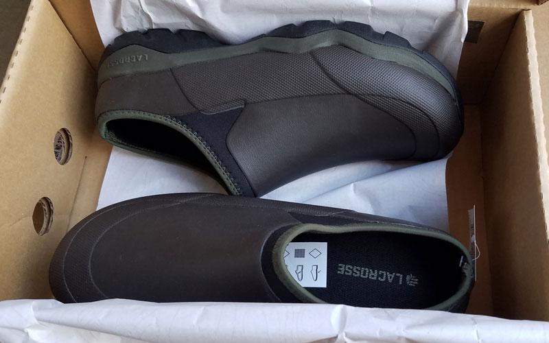 LaCrosse Alpha Muddy Mule Shoe packaging