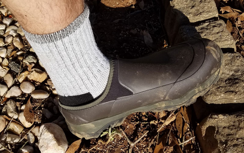 LaCrosse Alpha Muddy-Mule Shoes in the wild