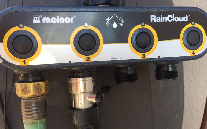 Melnor raincloud valve unit for hoses