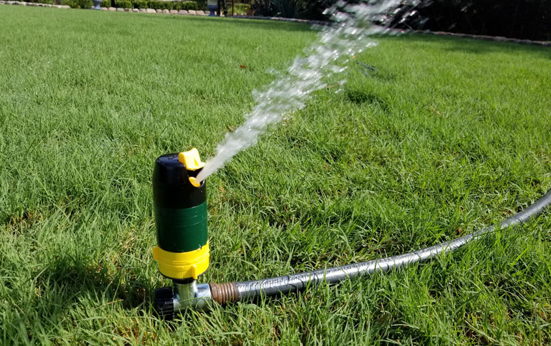 Melnor turbo rotary sprinkler in use 2