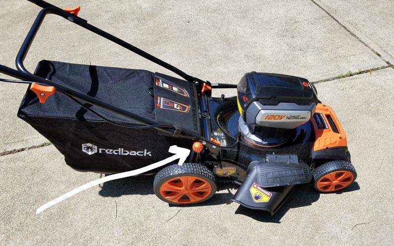 Redback 120v li-ion mower