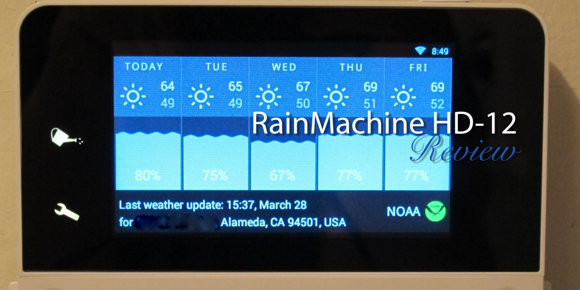 RainMachine HD-12 - The Forecast Sprinkler - Smart WiFi Irrigation Controller, 2nd Generation