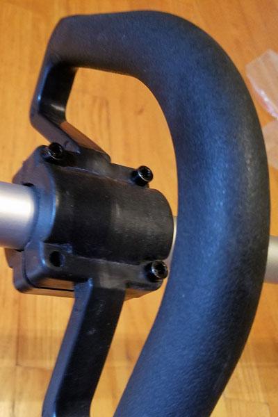 Redback-120v-String-Trimmer-securing-handle-11