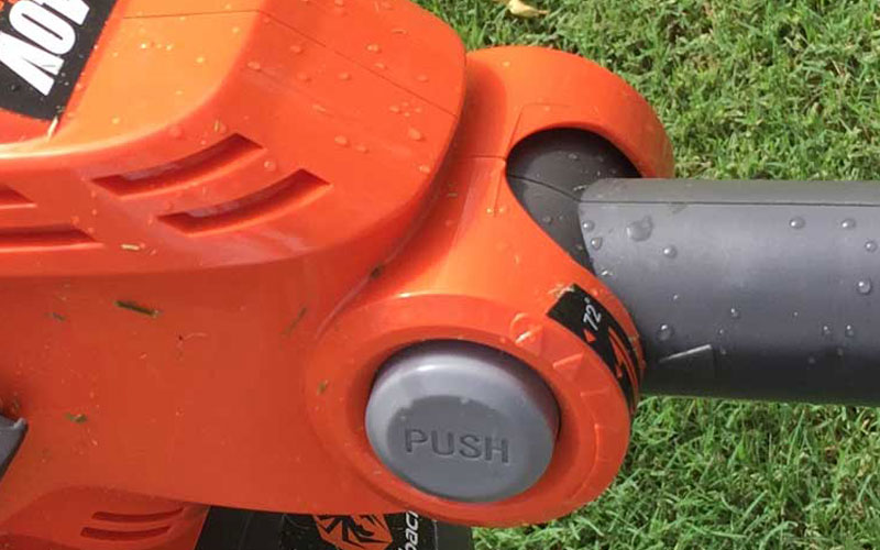 Redback 40V Lithium Ion Cordless String Trimmer Locking Button