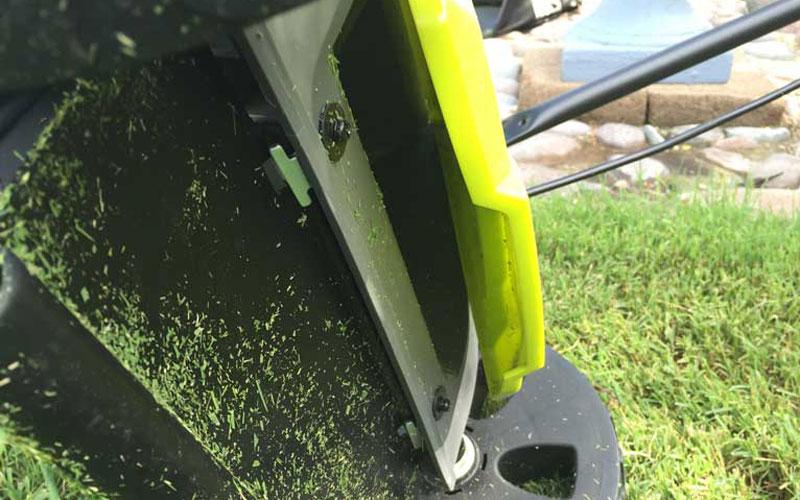 SunJoe Cordless Lawn Mower Gap Between Mower and Flap