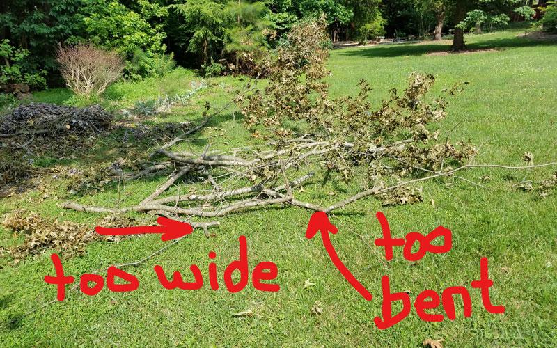 Troy-Bilt Chipper Shredder will not take entire tree