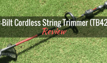Troy-Bilt Cordless String Trimmer (TB4200): Product Review