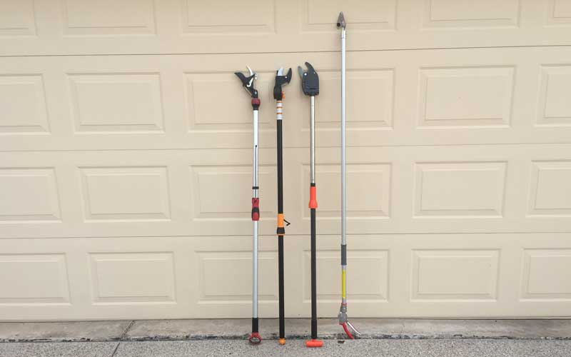 Various stick style pruners