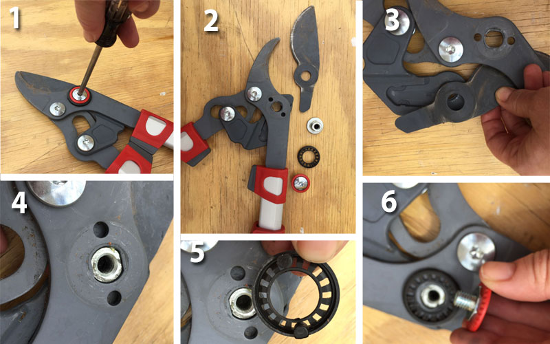 how to replace the blade on WOLF-Garten telescoping loppers