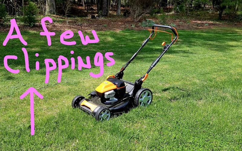 Yard Force 120V Cordless Mower mulching
