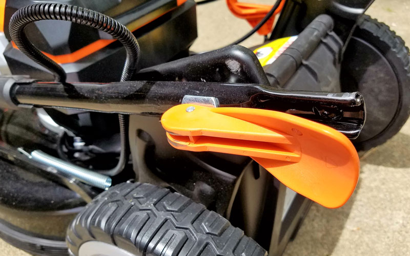 Yard Force 120V Cordless Mower handle adjustments
