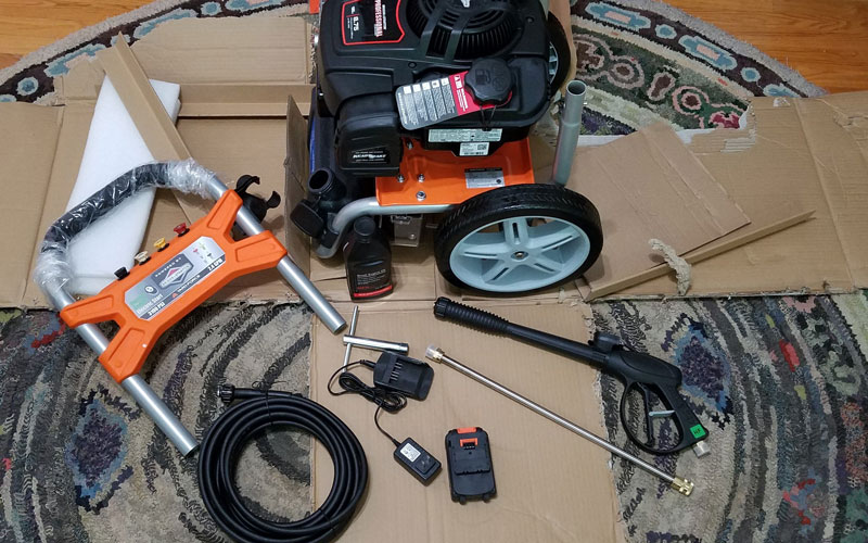 Yard Force Pressure Washer (YF3100ES-R) ready to assemble