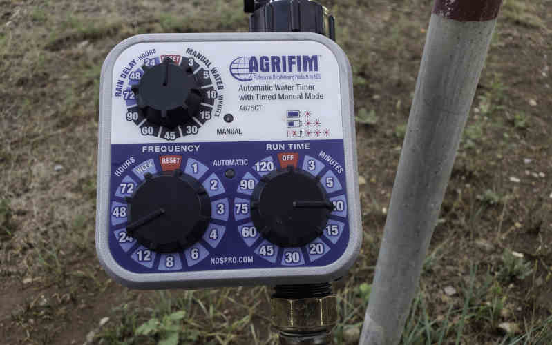 daisy rain sprinkler pots Agrifim water timer