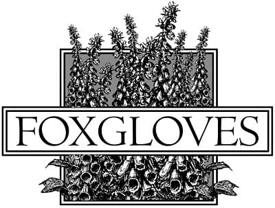 Foxgloves gardening gloves logo