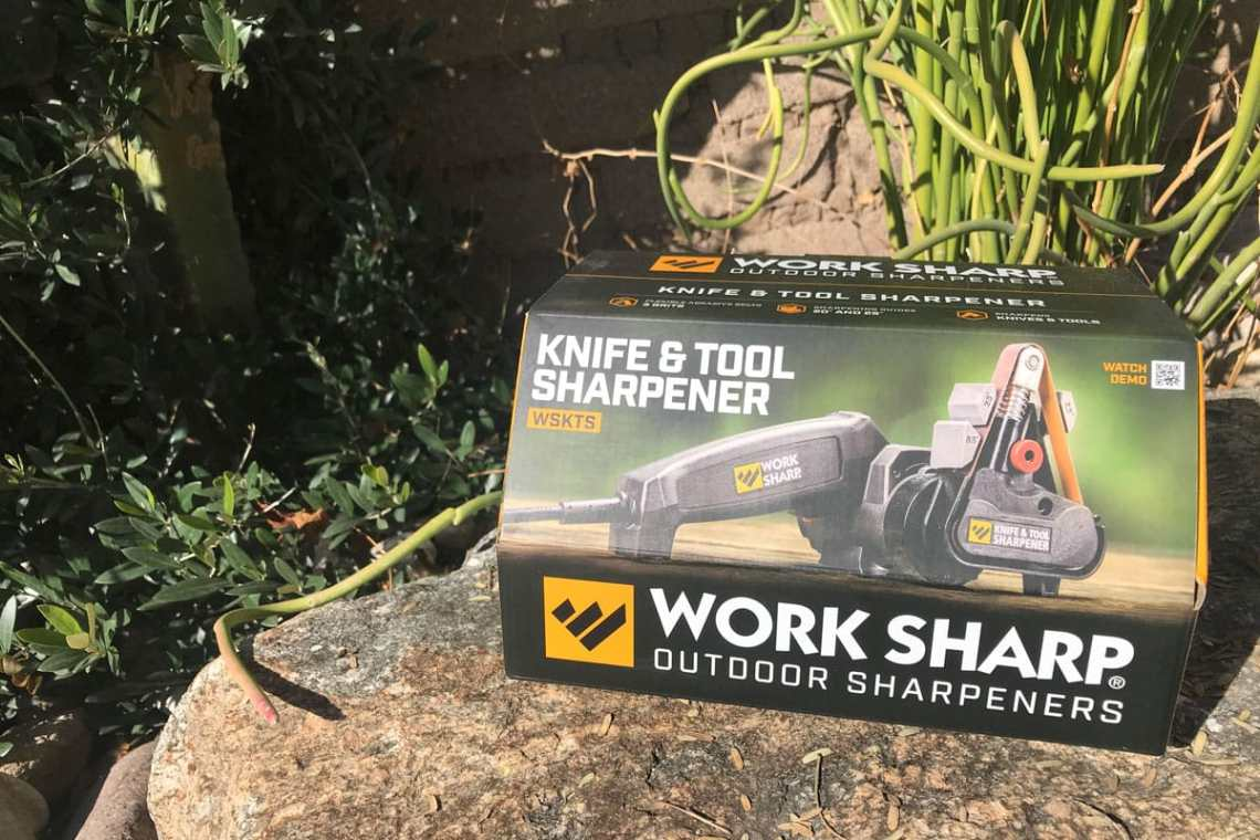 Work Sharp knife & tool sharpener in the box