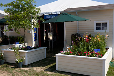 Landscaping exhibit at the Festival