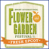 Artistic rendering of the words International Flower and Garden Festival