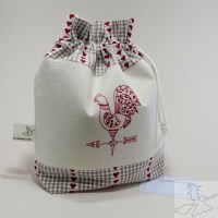 Handmade Drawstring Project Bag